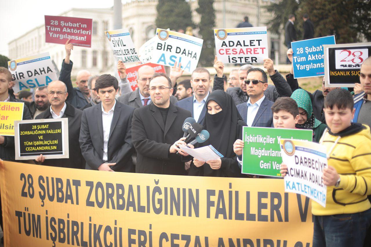 28 Şubat Platformu: Darbeciler  yargılanırken mağdurlar neden içeride?
