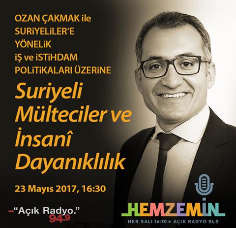 """Bugün 16:30'da Açık Radyo'da """"Suriyeli Mülteciler ve İnsanî Dayanıklılık"""""""