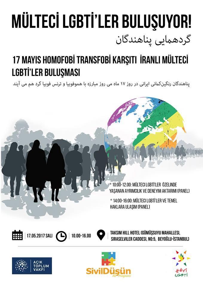 17 mayıs Homofobi-Transfobi Karşıtlığı Günü'nde Mülteci LGBTİ'ler Buluşması