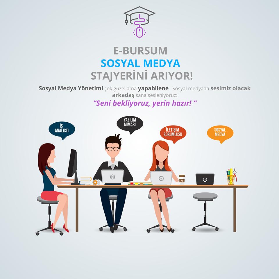 E-Bursum Sosyal Medya Stajyerini Arıyor!