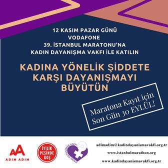 Kadın Dayanışma Vakfı İstanbul Maratonu'nda Birlikte Koşmaya Çağırıyor