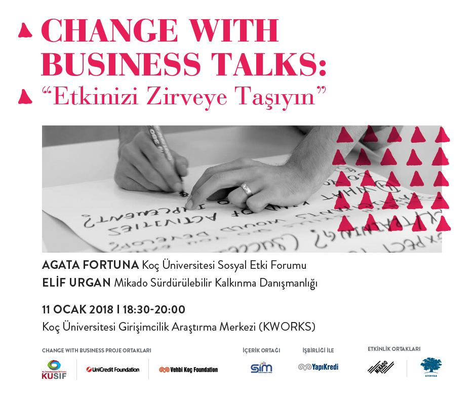 """Change with Business Talks: """"Etkinizi Zirveye Taşıyın"""""""