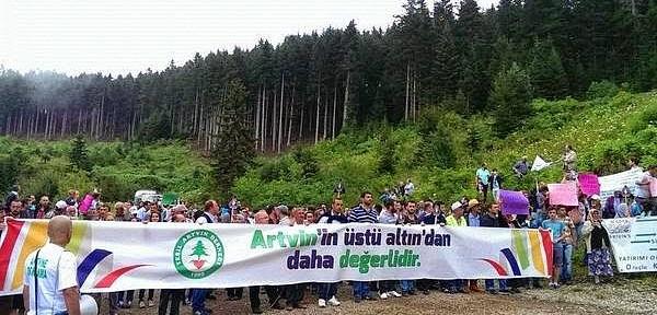 İşçiler Cengiz'e isyan etti Cerattepe'de maden araması durdu