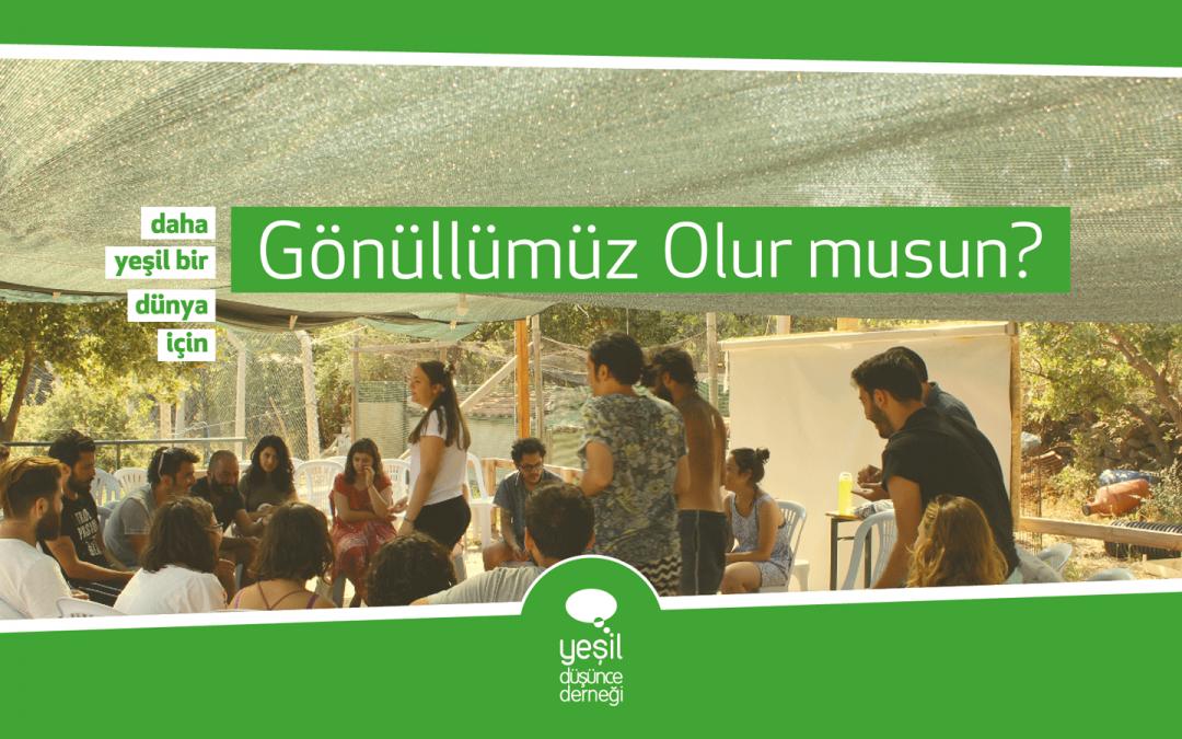 Yeşil Düşünce Derneği Gönüllülerini Arıyor!