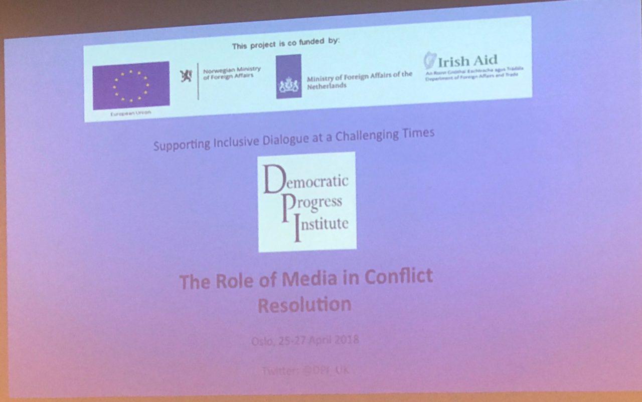 Oslo'da Çatışma Çözümünde Medyanın Rolü Konuşuldu