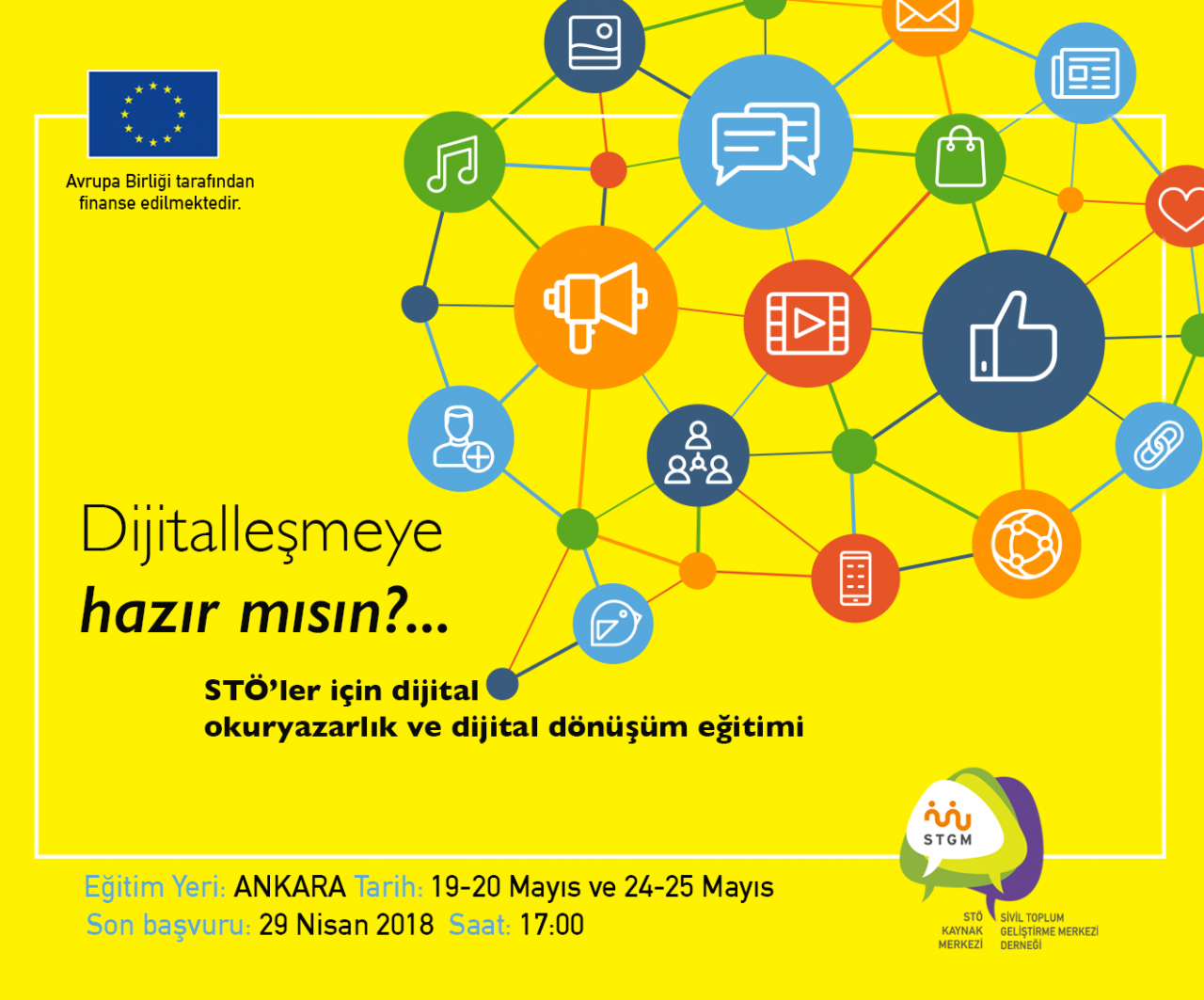 """""""STÖ'ler İçin Dijital Okuryazarlık ve Dijital Dönüşüm"""" Eğitimine Başvurular Başladı"""