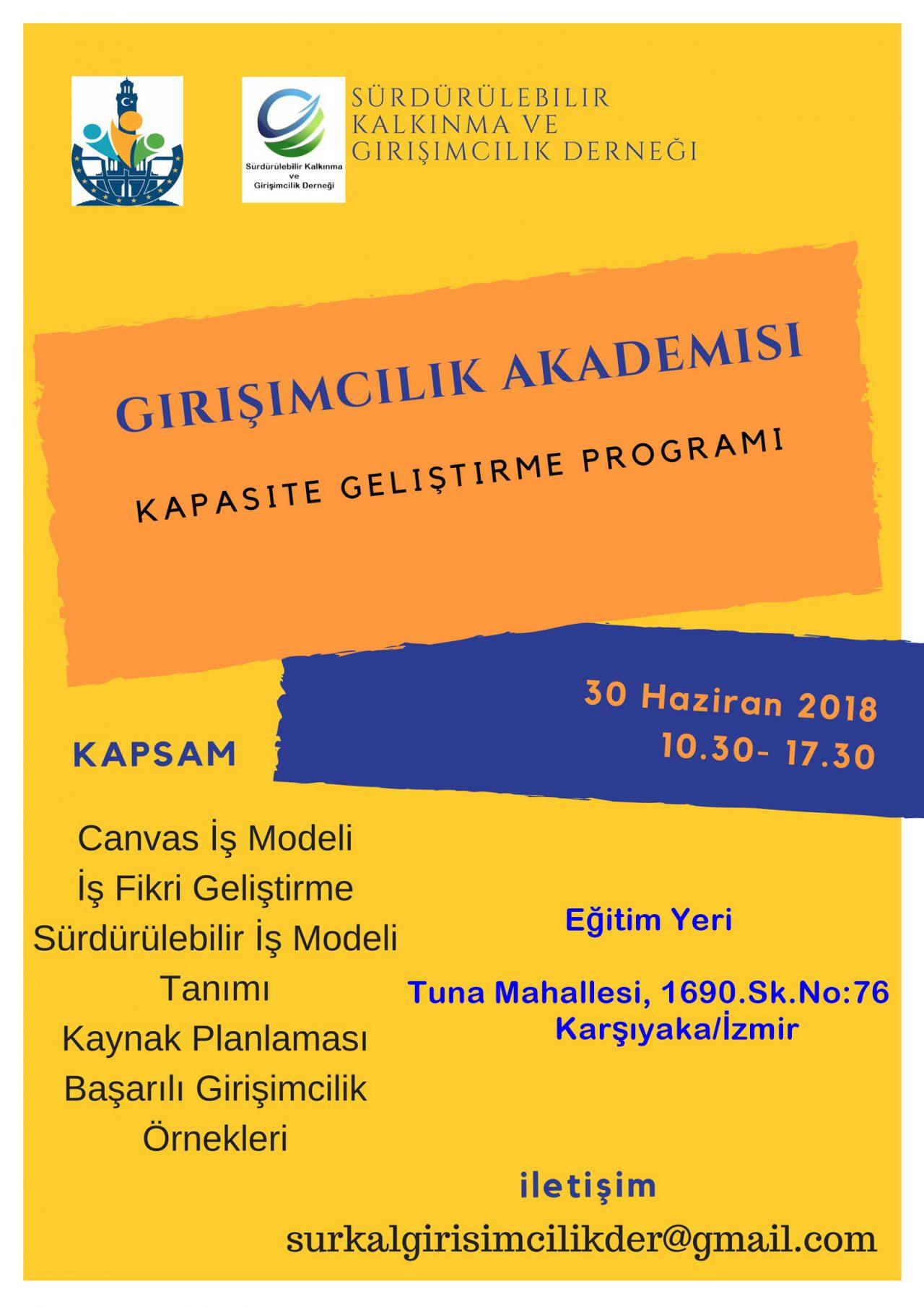 Girişimcilik Akademisi Kapasite Geliştirme Programı