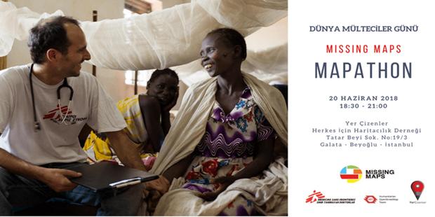 Sınır Tanımayan Doktorlar, Humanitarian OpenStreetMap Team ve Yer Çizenler Herkes İçin Haritacılık Derneği'nden Mapathon
