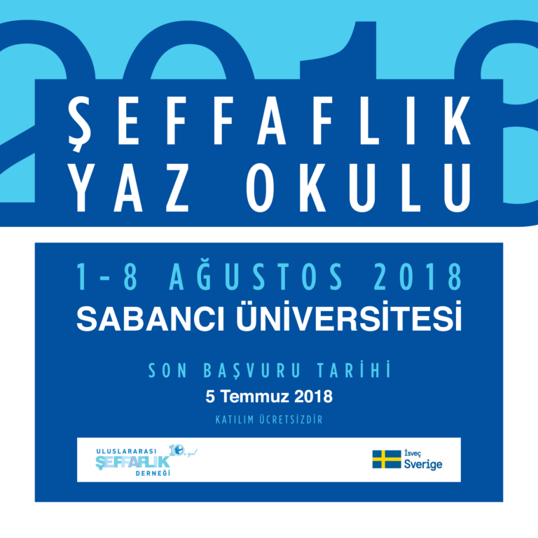 2018 Şeffaflık Yaz Okulu İçin Başvurular Açıldı