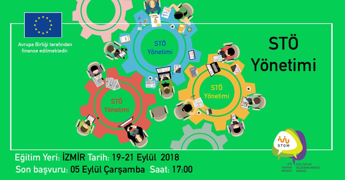 """STÖ Kaynak Merkezi """"STÖ Yönetimi"""" Eğitimiyle İzmir'e Geliyor"""