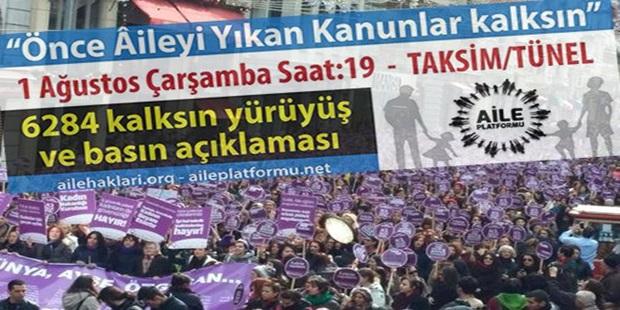 """153 Kadın Örgütünden """"Eşitliğe Son"""" Yürüyüşüne Tepki"""