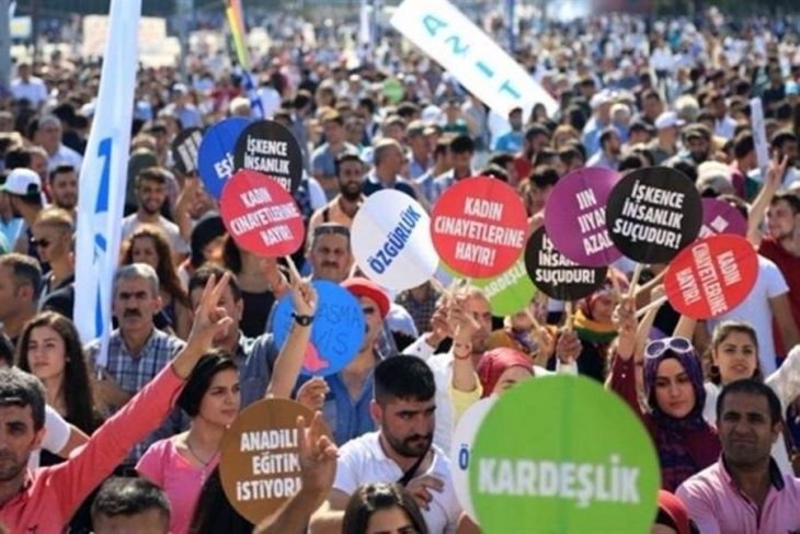 İstanbul Barış Mitingi Bakırköy'de Gerçekleşti