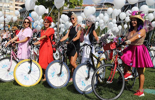6. Süslü Kadınlar Bisiklet Turu'na 60 İlde 15 Bin Kadın Katıldı