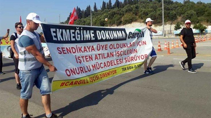 İstanbul'a yürüyen Cargill işçileri, Gebze'ye ulaştı