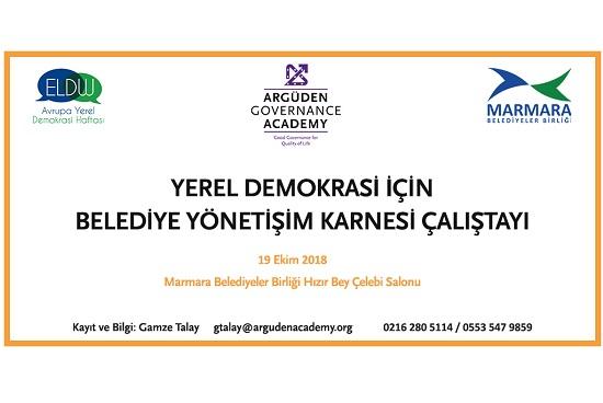 Yerel Demokrasi için Belediye Yönetişim Karnesi Çalıştayı