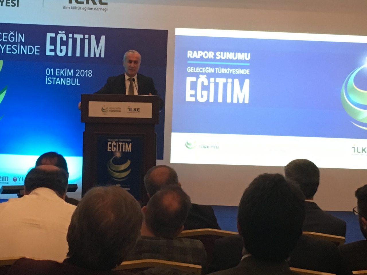 """İlim Kültür Eğitim Derneği """"Geleceğin Türkiyesi'nde Eğitim"""" Raporunu Sundu"""