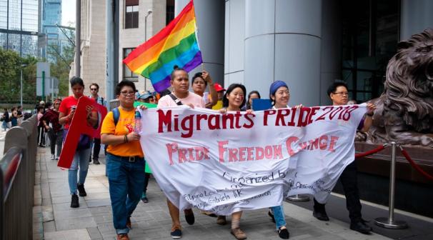 Hong Kong'da Göçmen LGBTİ İşçiler İşçi Hakları İçin Harekete Geçti