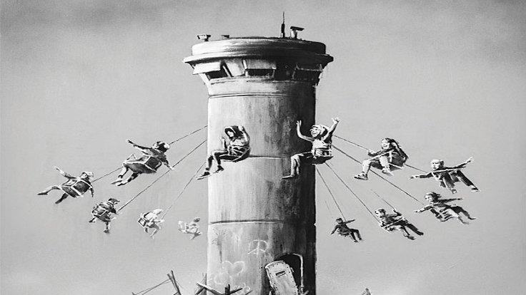 Bansky'den Bedava Filistin Posteri