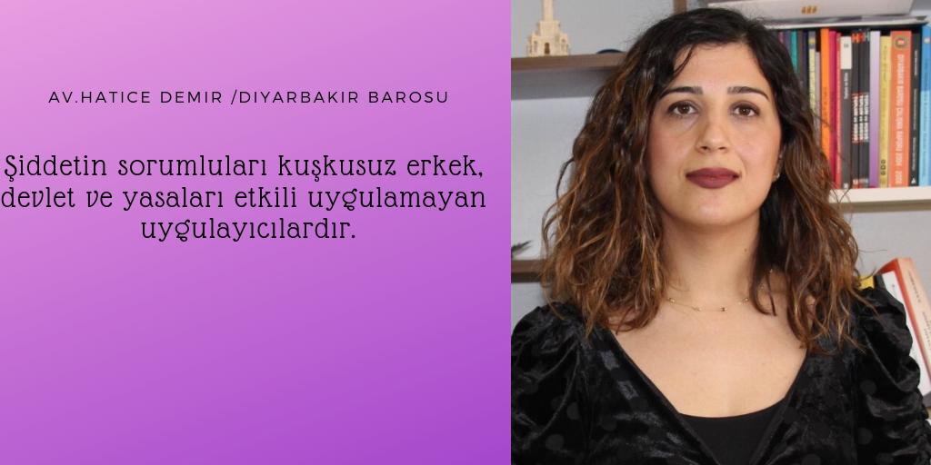 25 Kasım Dosyasında Bugün: Feminist Av. Hatice Demir Konuşuyor
