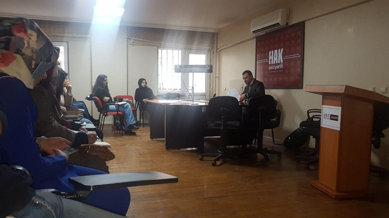 Diyarbakır İnsan Hakları Okulu'nda Tahir Elçi Konuşuldu