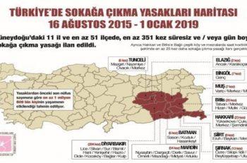 TİHV: Sokağa Çıkmak Son 3,5 Yılda En Az 351 Kez Yasaklandı