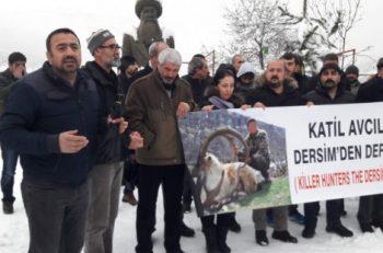 Dersim'de Avcılık Protestosu