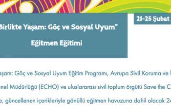 """""""Birlikte Yaşam: Göç ve Sosyal Uyum"""" Eğitmen Eğitimi"""