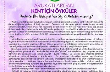Diyarbakır Barosu'ndan Avukatlarına Kent Öyküleri Çağrısı