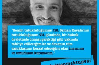Yiğit Aksakoğlu'ndan Cezaevindeki 150. Gününde Mektup Var