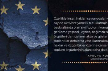 AB Türkiye İlerleme Raporu: Sivil Toplum Başlığında Ciddi Gerileme Yaşanıyor