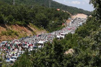 On Binlerce Kişi Kaz Dağları'nda Su ve Vicdan Nöbeti'nde…