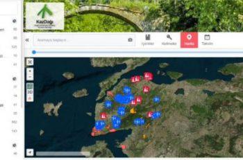 Kazdağları İnteraktif Harita Yayında