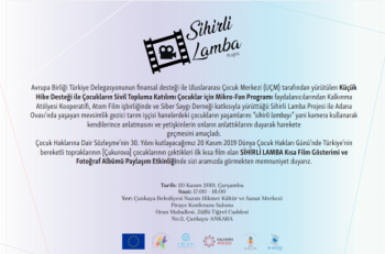 Çocuk Hakları Gününde Sihirli LambaKısa Film Gösterimi