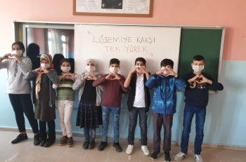 """Güleçoba Köyü'nden LÖSEV'e Selam: <br>""""Maskemi Takarım Farkındalık Yaratırım"""""""