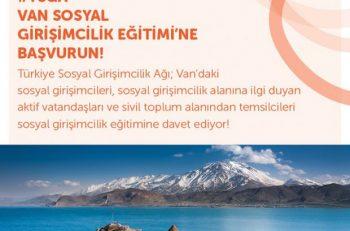 Türkiye Sosyal Girişimcilik Ağı-Van Sosyal Girişimcilik Eğitimi