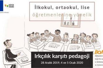 BoMoVu, Irkçılık Karşıtı Pedagoji Projesi'nin Öğretmenlere Yönelik Atölyeler'ine Davet Ediyor