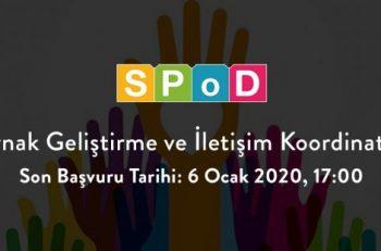 SPoD Kaynak Geliştirme Ve İletişim Koordinatörü Arıyor