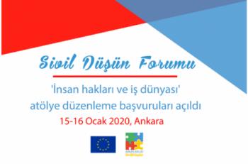 Sivil Düşün Forumu Atölye Düzenleme Başvuruları Açıldı