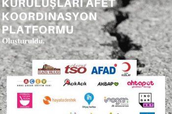 Sivil Toplum Kuruluşları Afet Koordinasyon Platformu Oluşturuldu