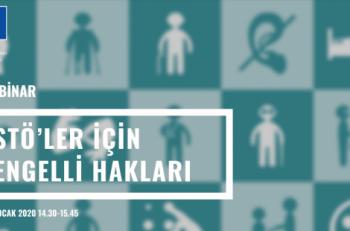 STÖ'ler İçin Engelli Hakları Webinarına Davetlisiniz