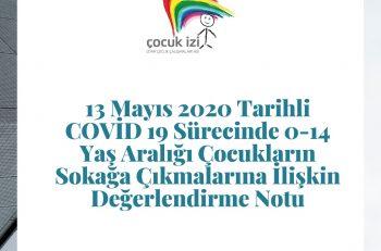 İzmir Çocuk Çalışmaları Ağı'ndan Çocukların Sokağa Çıkmalarına İlişkin Değerlendirme Notu