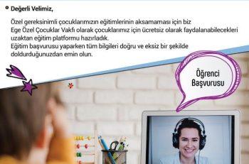 Özel Gereksinimli Çocuklara Ücretsiz Online Eğitim