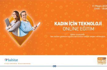 Kadın için Teknoloji Projesi Online Eğitimi Başlıyor