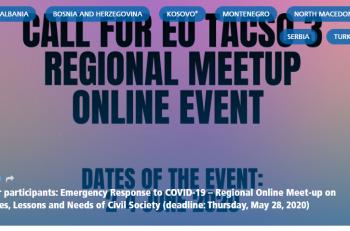 TACSO'dan Bölgesel Çevrimiçi Buluşma…