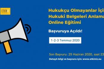 'Hukukçu Olmayanlar için Hukuki Belgeleri Anlama' Online Eğitimi Başvuruya Açıldı