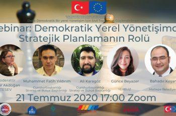 """TESEV """"Demokratik Yerel Yönetişimde Stratejik Planlamanın Rolü"""" Webinarına Davet Ediyor"""