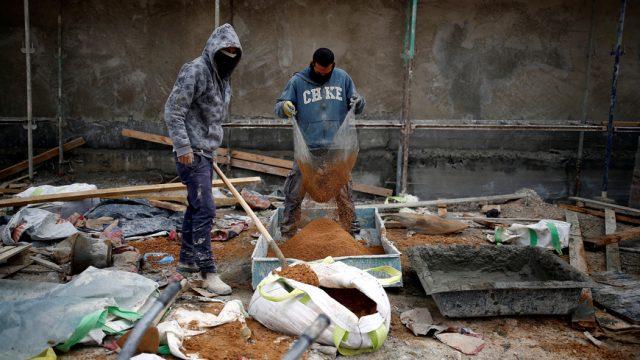 filistin inşaat işçileri