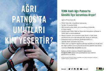 TEMA Vakfı Ağrı Patnos'ta Gönüllü İlçe Sorumlusu Arıyor!