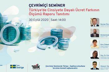 Türkiye'de Cinsiyete Dayalı Ücret Farkının Ölçümü Raporu Tanıtımı Semineri