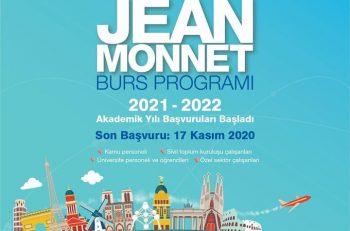 Jean Monnet Burs Programı 2021-2022 Akademik Yılı Başvuruları Başladı!